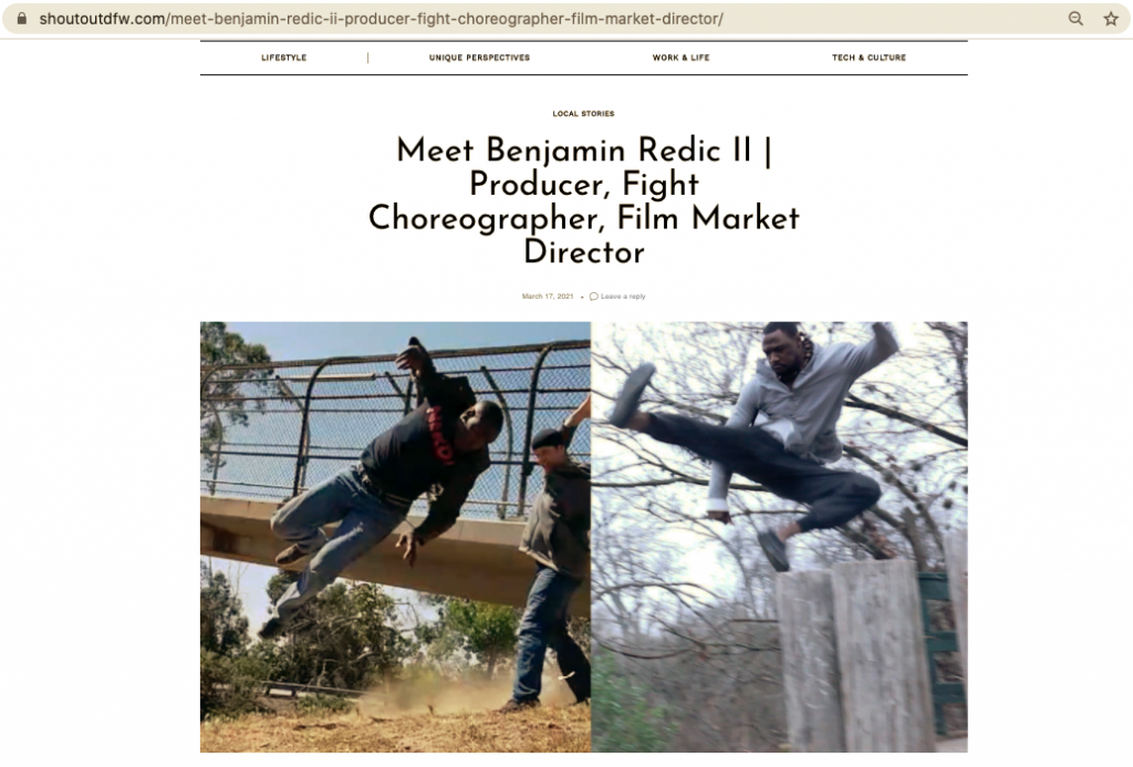 Screen Shot 2021 03 17 at 8.23.53 AM ShoutOutDFW does an interview with Benjamin Redic, CEO of Ballistic Blade Entertainment!